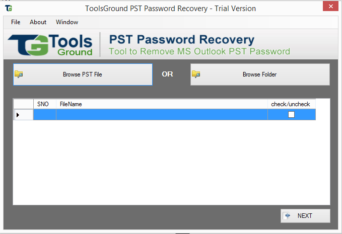 Windows 7 ToolsGround PST Password Recovery 1.0 full